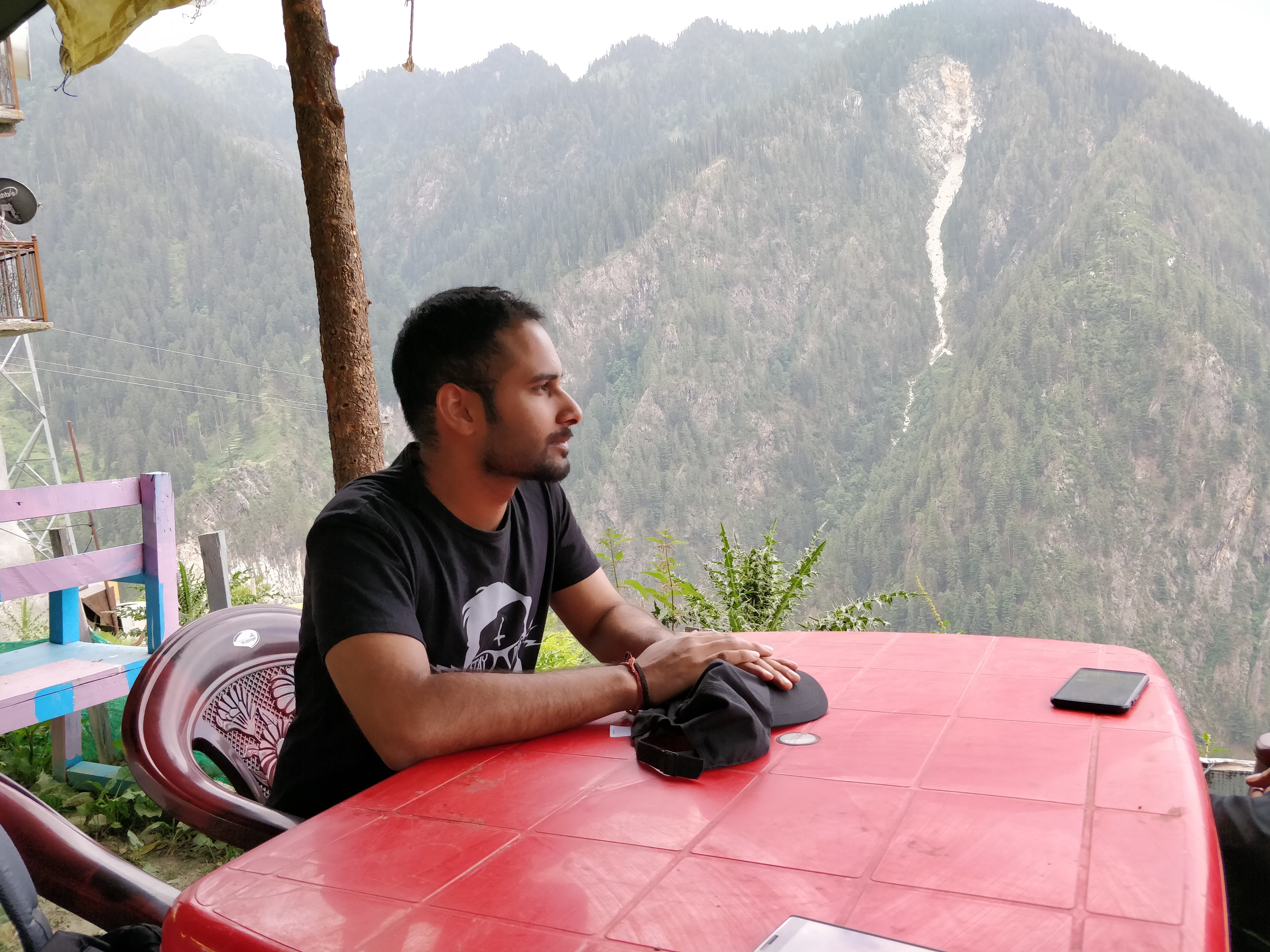 Cafe at the top in Malana Village