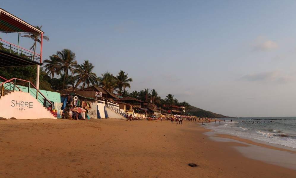 View of Anjuna beach, Goa, India