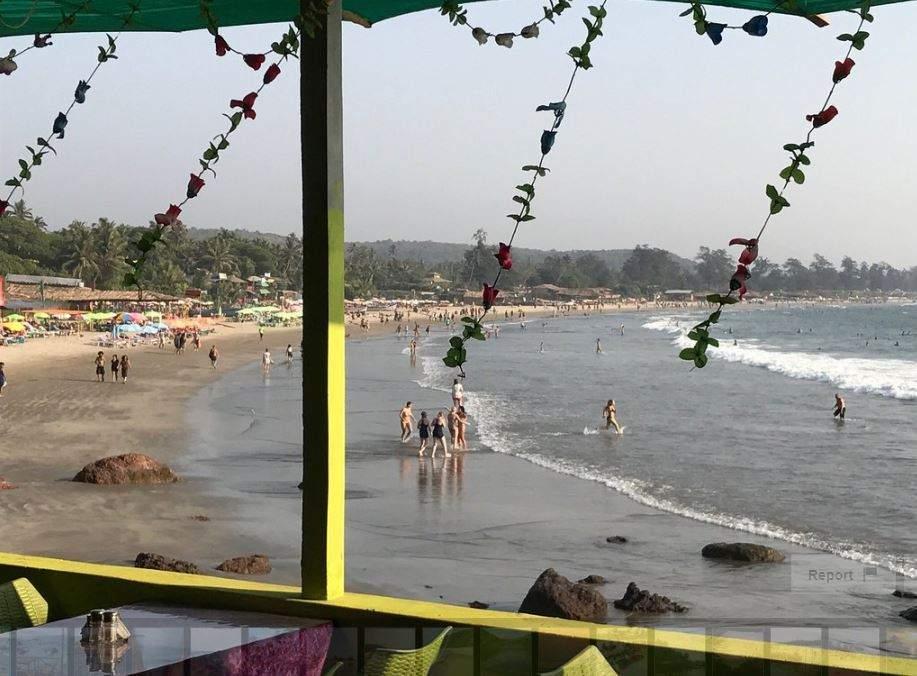 View of Arambol beach, Goa, India