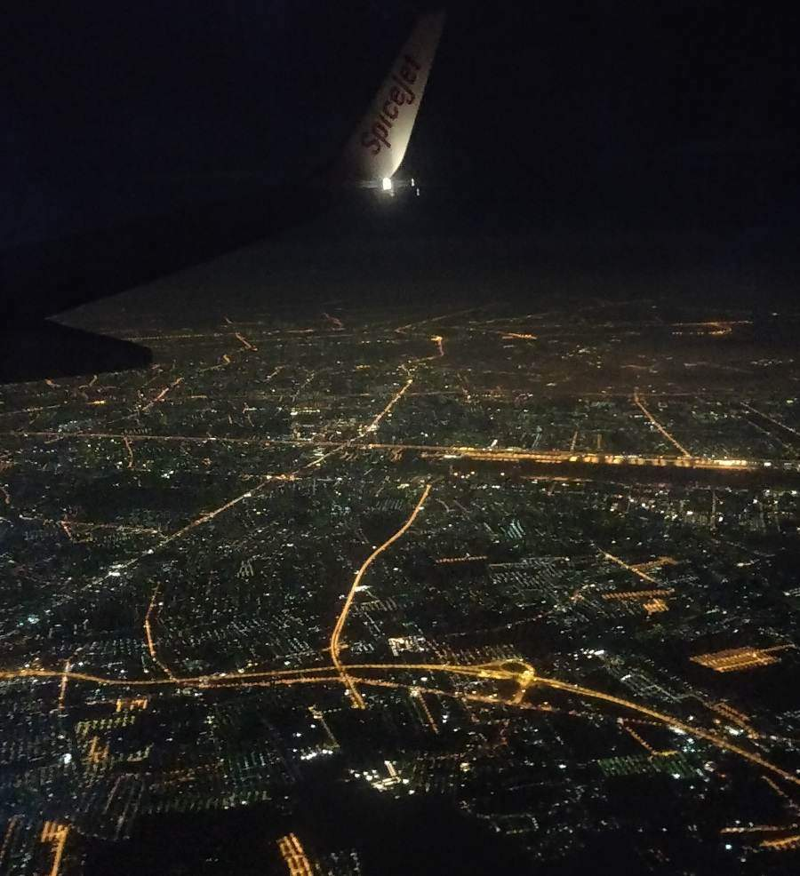 bangkok city view from the airplane