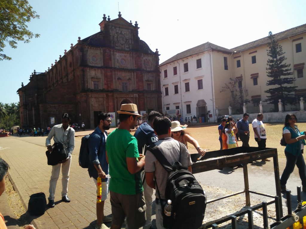 Basilica of Bom Jesus, a portugese styled church in Old Goa